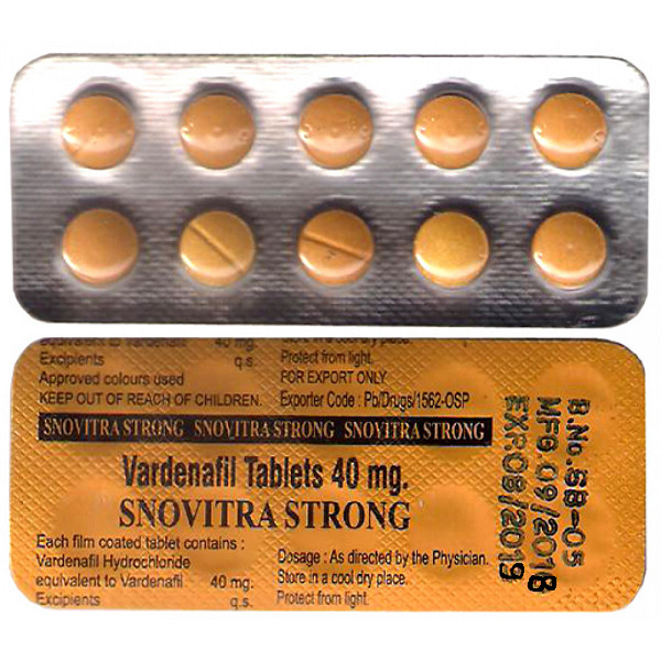 VARDENAFIL comprare in Italia, il prezzo di Snovitra Strong 40mg presso la farmacia online happy-outlet.net