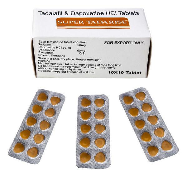 DAPOXETINE,TADALAFIL comprare in Italia, il prezzo di Super Tadarise presso la farmacia online happy-outlet.net